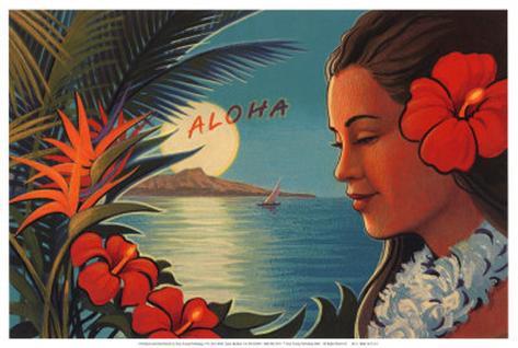 Aloha Moonrise Art Print