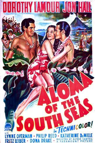 Aloma of the South Seas Impressão artística