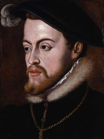 Portrait of King Philip II of Spain, C.1531-88 Giclee Print