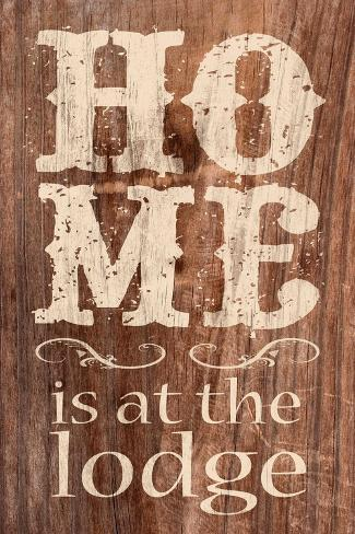 At The Lodge Art Print