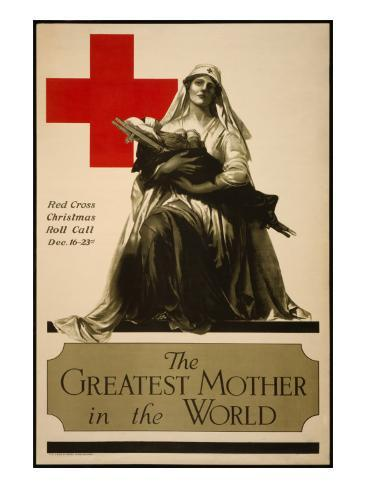 The Greatest Mother in the World, Red Cross Christmas Roll Call Dec. 16-23rd Stampa artistica