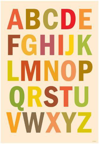 Alphabet (List) Art Poster Print Poster