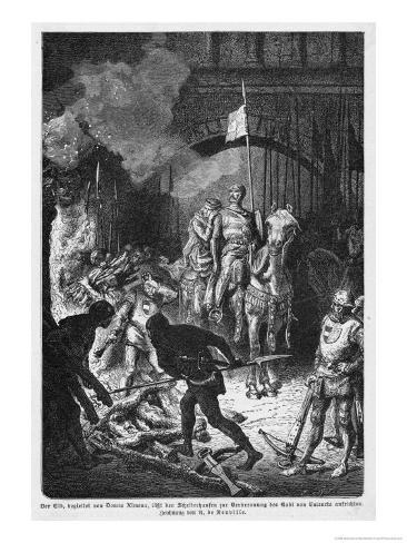El Cid at Valencia Giclee Print