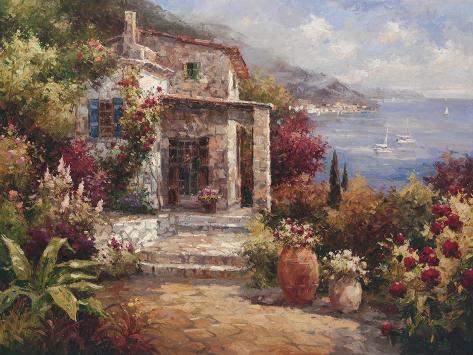 Monterosso Villa Premium Giclee Print