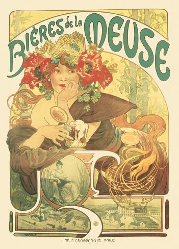 Alphonse Mucha- Meuse Beer Póster