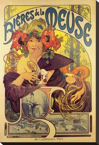 Bieres de la Meuse Stretched Canvas Print