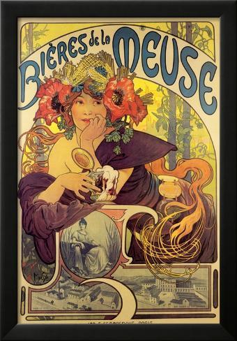 Bieres de la Meuse Framed Art Print