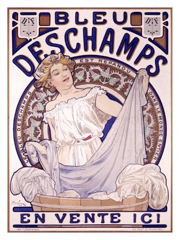 Bleu Deschampes Giclee Print