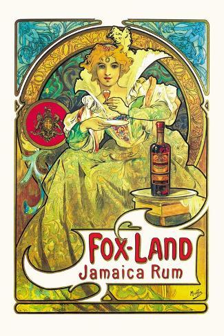 Fox-Land Jamaica Rum Decalcomania da muro