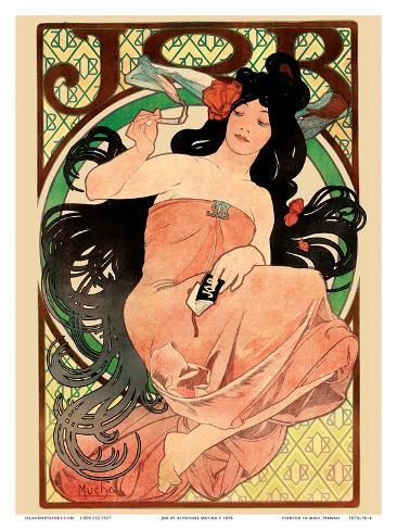 Job - Cigarette Rolling Papers Advertisement - Art Nouveau Impressão artística