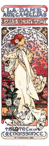 La Dame aux Camelias Art Print