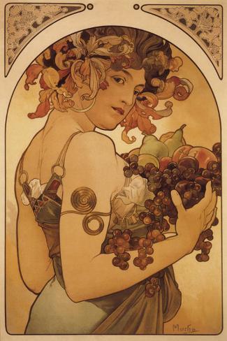 Le Fruit Stretched Canvas Print