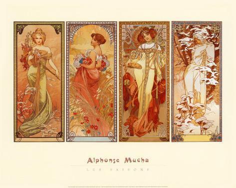 Les Saisons, 1900 Art Print