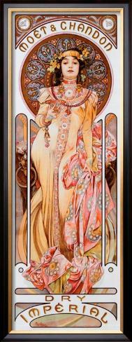 Moet Chandon Dry Imperial Framed Giclee Print