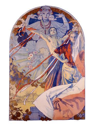 Pagenat on the Vltava Giclee Print