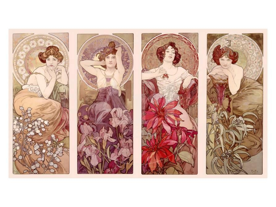 Precious Stones And Flowers Giclee Print By Alphonse Mucha At Allposters