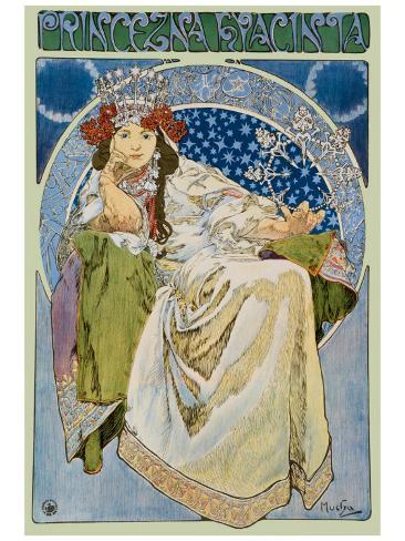 Princezna Hyacinta Framed Giclee Print