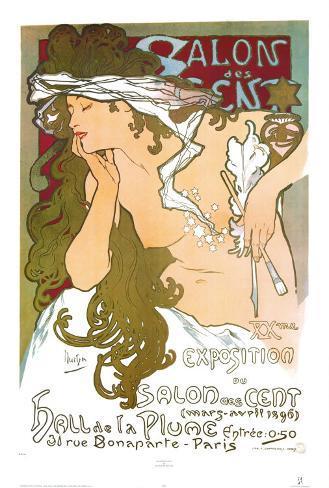 Salon des Cent Art Print