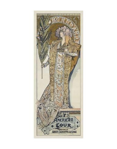 Sarah Bernhardt, 1894 Art Print