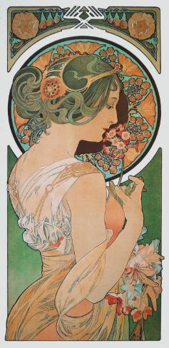 Spring: The Primula , c.1899 Art Print