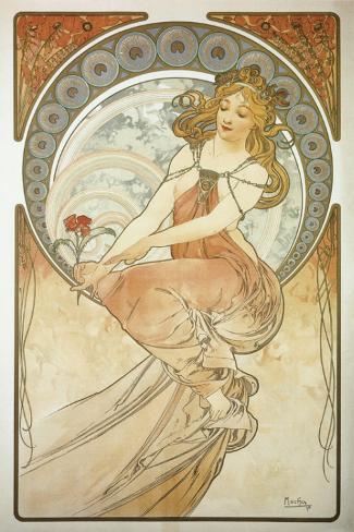 The Arts: La Peinture Stretched Canvas Print