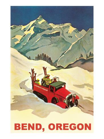 Alpine Skiing Expedition in Bend, Oregon Art Print