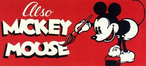 Also Mickey Mouse Stampa master