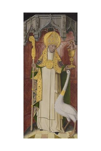 Altarpiece from Thuison-Les-Abbeville: Saint Hugh of Lincoln, 1490-1500 Stampa giclée