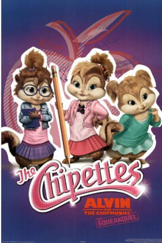 Alvin and the Chipmunks: The Squeakquel Movie (The Chipettes) Poster Print Poster