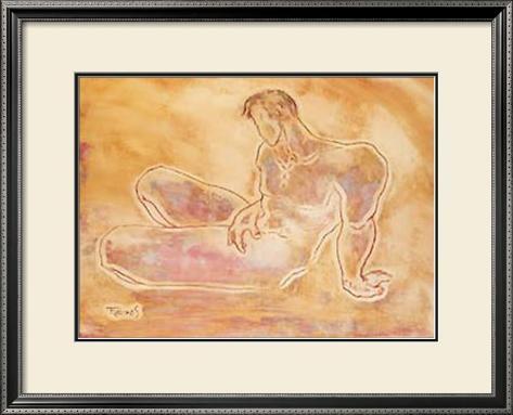 Male Sketch II Framed Art Print