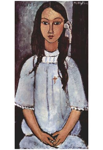 Amadeo Modigliani (Alice) Art Poster Print Poster