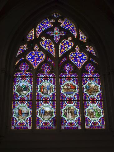 15th Century Stained Glass Window in the Cathedrale St-Corentin, Southern Finistere, France Photographic Print