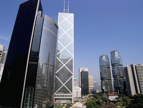 Bank of China Building in Centre, Central, Hong Kong Island, Hong Kong, China Photographic Print