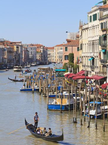 Grand Canal, Venice, UNESCO World Heritage Site, Veneto, Italy, Europe Photographic Print