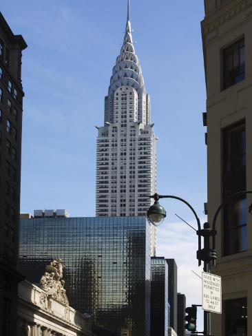 Grand Central Station Terminal Building and the Chrysler Building, New York, USA Photographic Print
