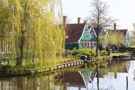 Preserved Historic Houses in Zaanse Schans Photographic Print