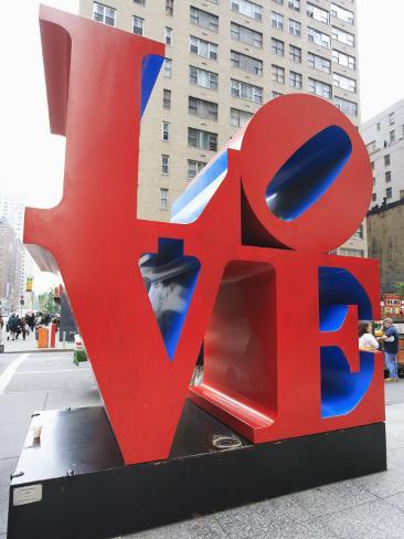 The Pop Art Love Sculpture by Robert Indiana, Sixth Avenue, Manhattan Photographic Print
