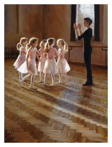 The Dance Class Art Print