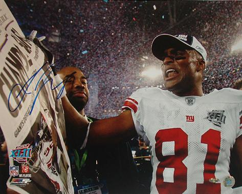 Amani Toomer Super Bowl XLII Celebration Autographed Photo (Hand Signed Collectable) Photo