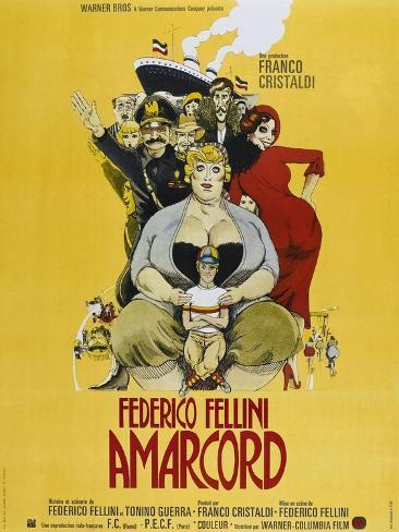 Amarcord, French poster, 1973 Konstprint