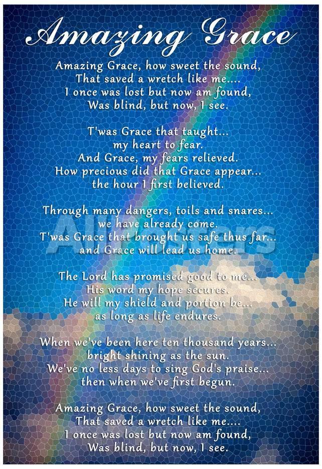 Amazing Grace Lyrics Photo Allposters Com