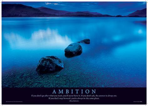 Ambition Motivational Poster Masterprint