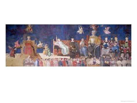Allegory of Good Government, 1338-40 Giclee Print