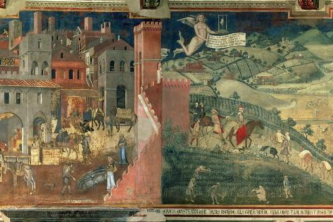 Effects of Good Government, c.1338 Giclee Print