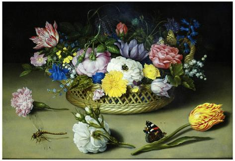 Ambrosius Bosschaert the Elder Flower Still Life Art Print Poster Poster