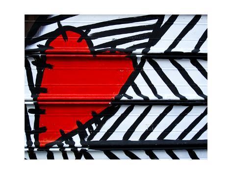 オールポスターズの amdavis heart painted on metal 高品質プリント