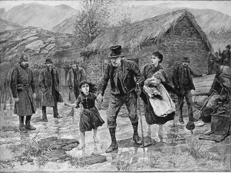 Scene at an Irish Eviction in County Kerry, from The Illustrated London News, 15th January 1887 Giclee Print