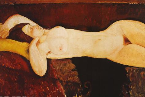 Desnudo reclinado Lámina