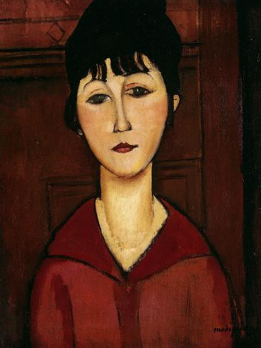 Head of a Young Girl, 1916 Giclee Print