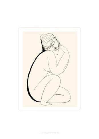 Nudo Seduto, c.1910-11 Serigraph
